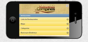 Guia mobile Festival Gastronômico de Campinas