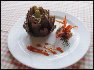 Saltimboca de Frango com alcachofra