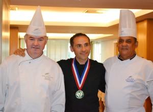 chefs Daniel Valay, Maurice Alexis e Antonio Batista
