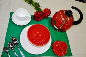 Mesa da manhã café Natalina