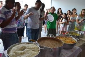 A benção na comida de Santos Reis