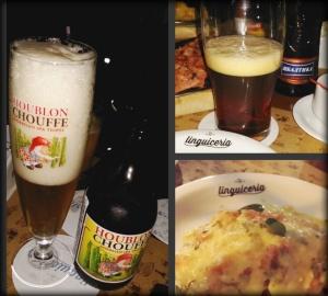 Cervejas especiais e bruschetta vegetariana do chef