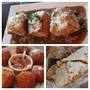 Mozzarell in carozza, arancini e cannoli, a verdadeira gastronomia siciliana em Vinhedo